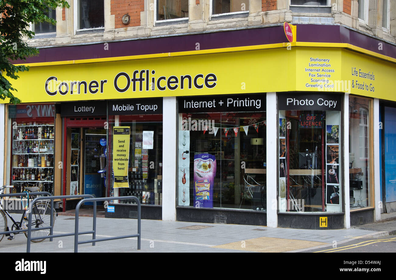 Corner Off Licence, Granby Street, Leicester, England, UK - Stock Image