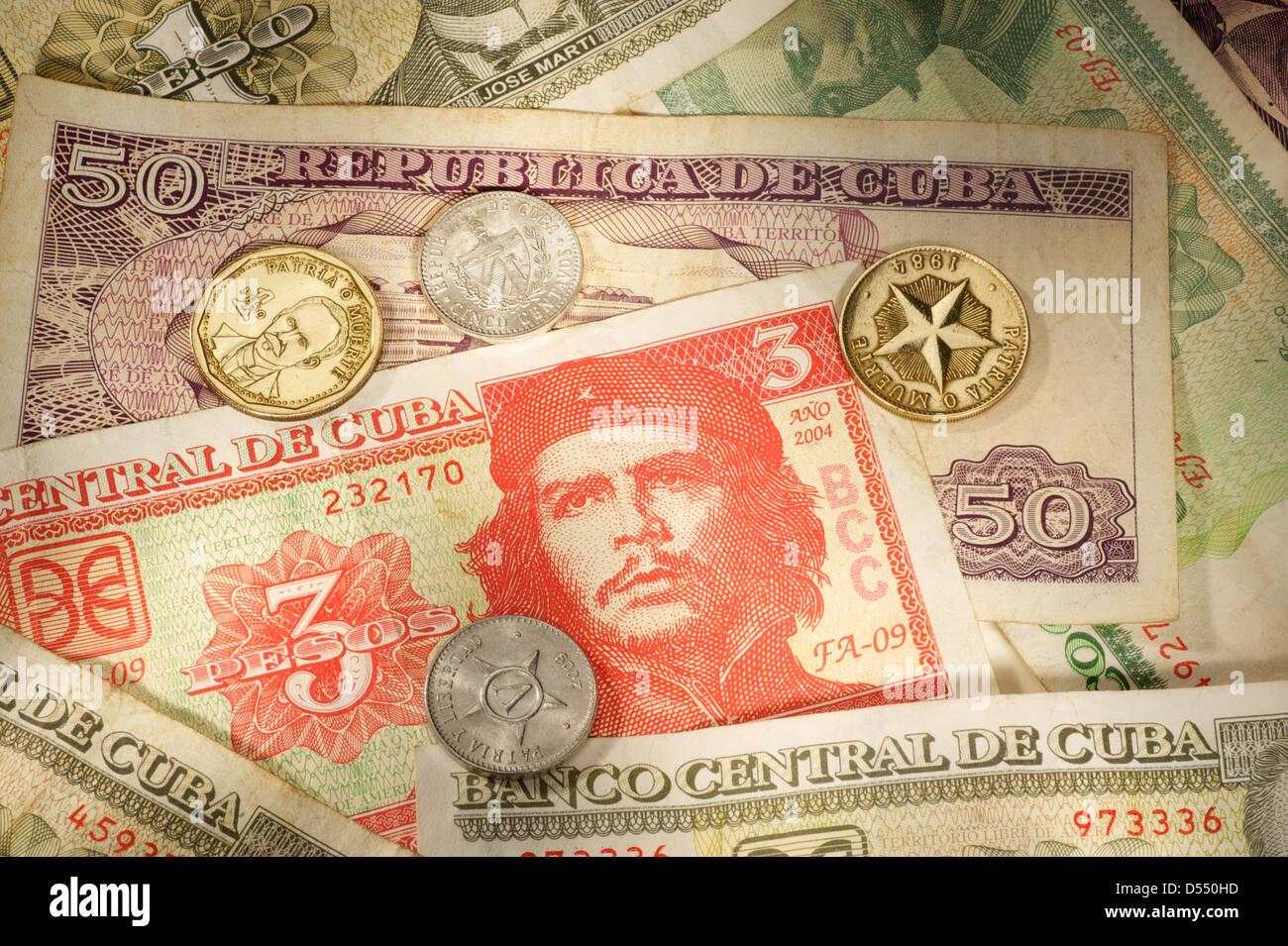 Hamburg, Germany, Cuban money Cuban Peso - Stock Image