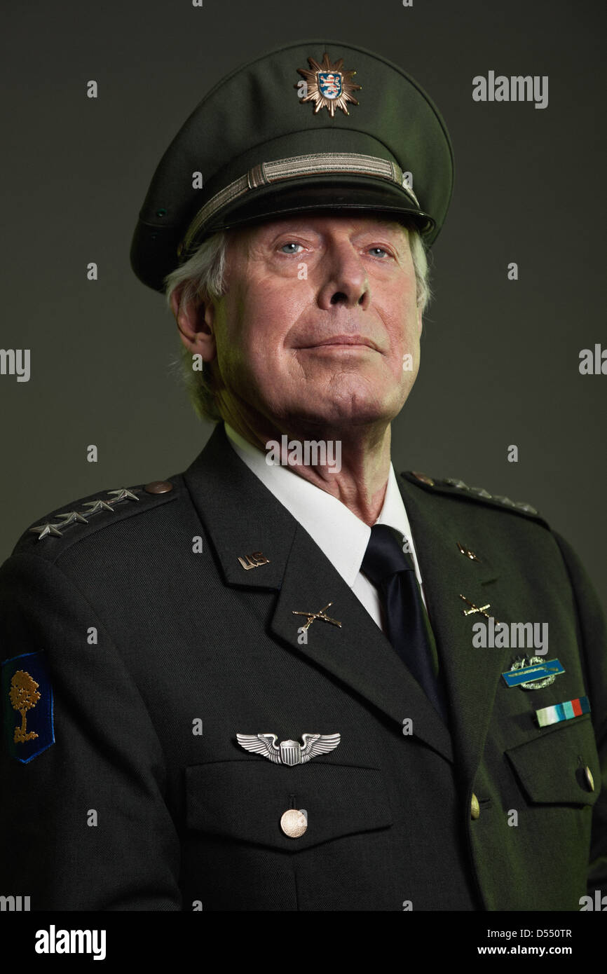 Us Military General In Uniform Studio Portrait Stock Photo