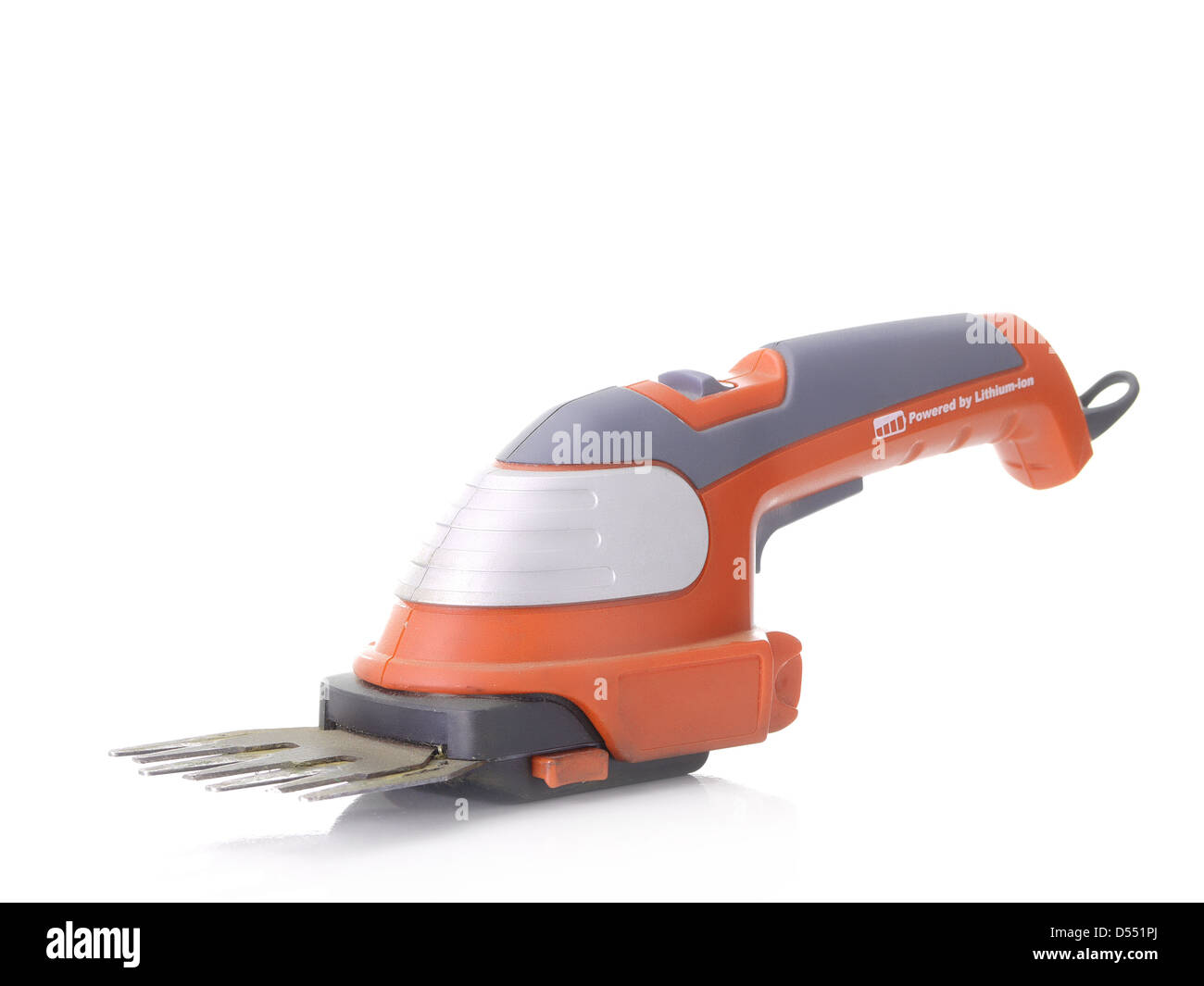 Grass trimmer shot on white - Stock Image