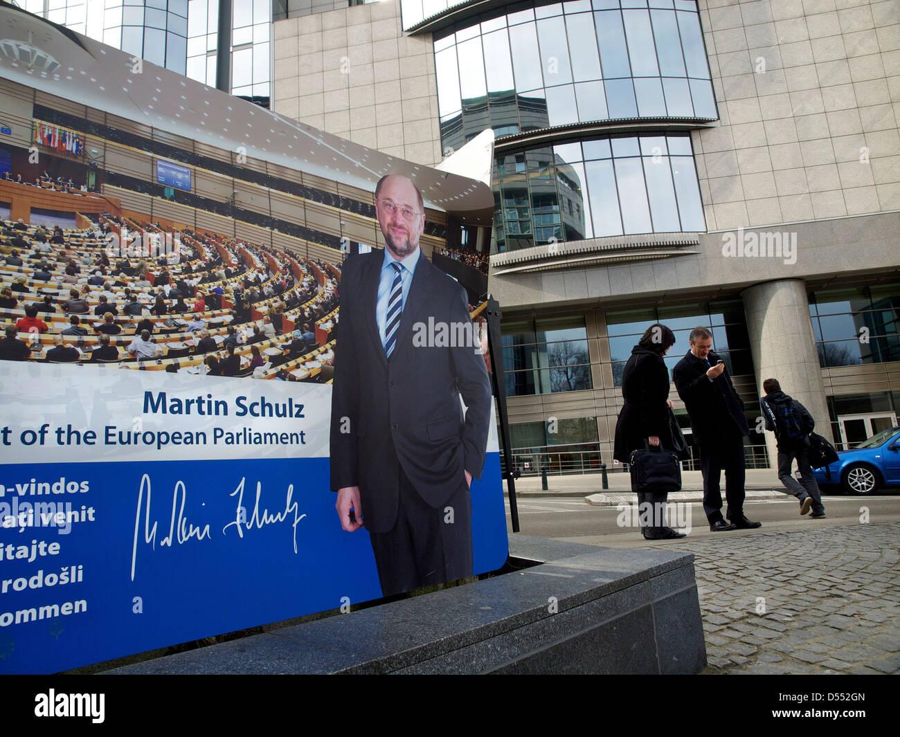 Martin Schulz president of the European Parliament - Stock Image
