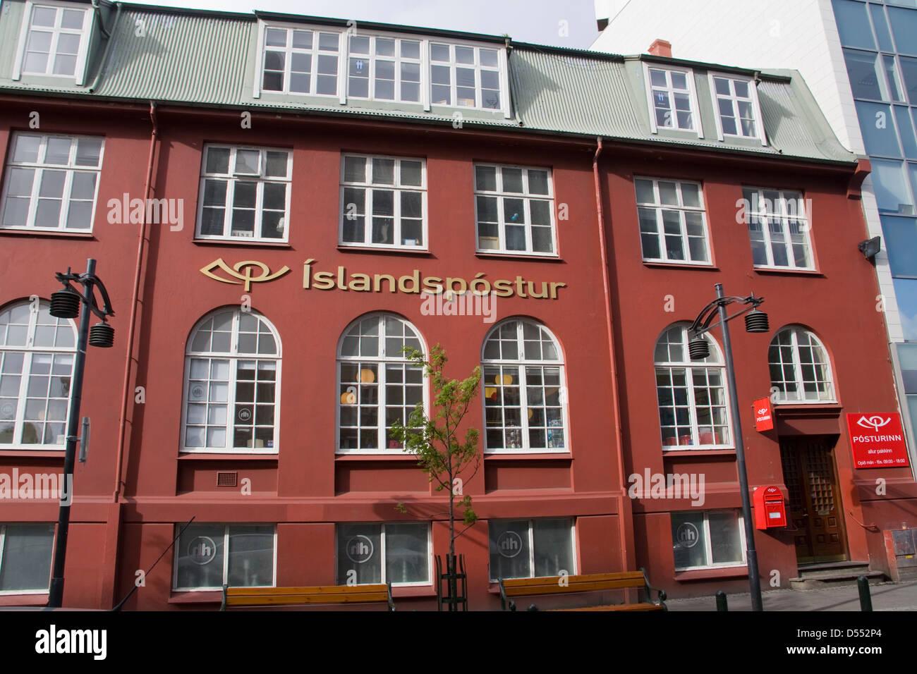 Iceland Reykjavik Postoffice building - Stock Image