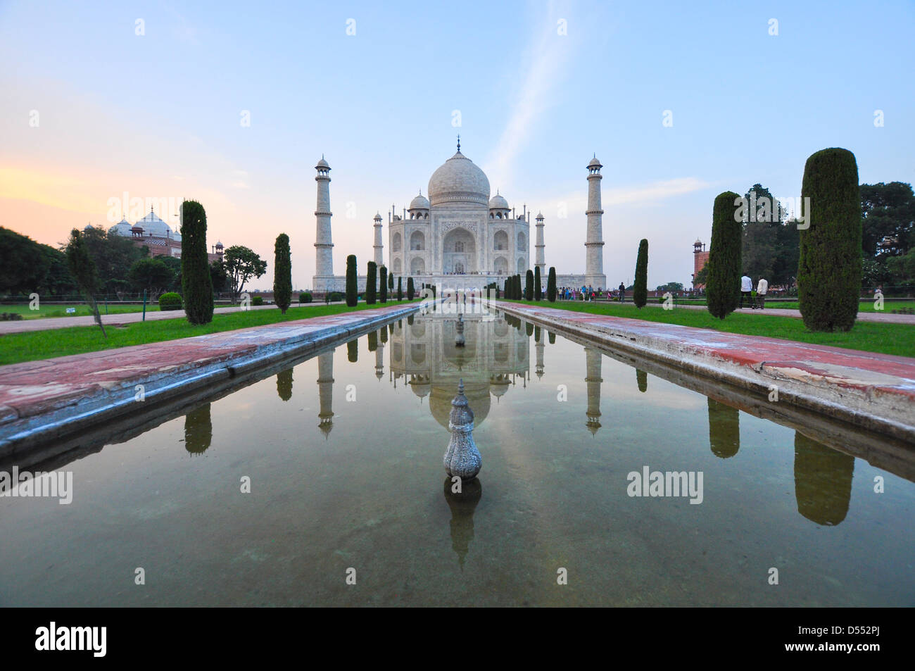 India, Uttar Pradesh, Agra, The Taj Mahal - Stock Image
