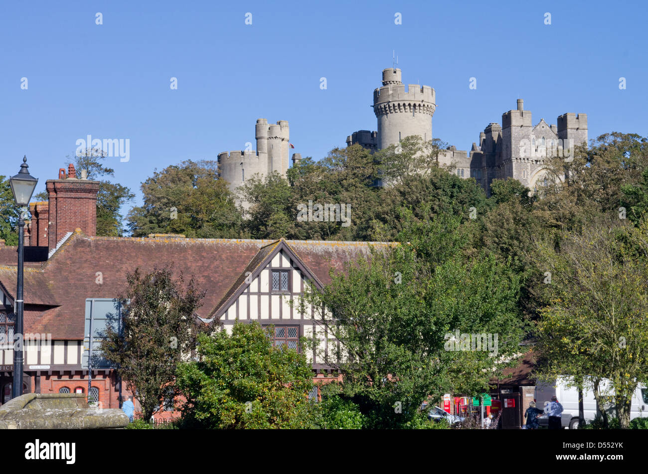 Arundel town and Castle - Stock Image