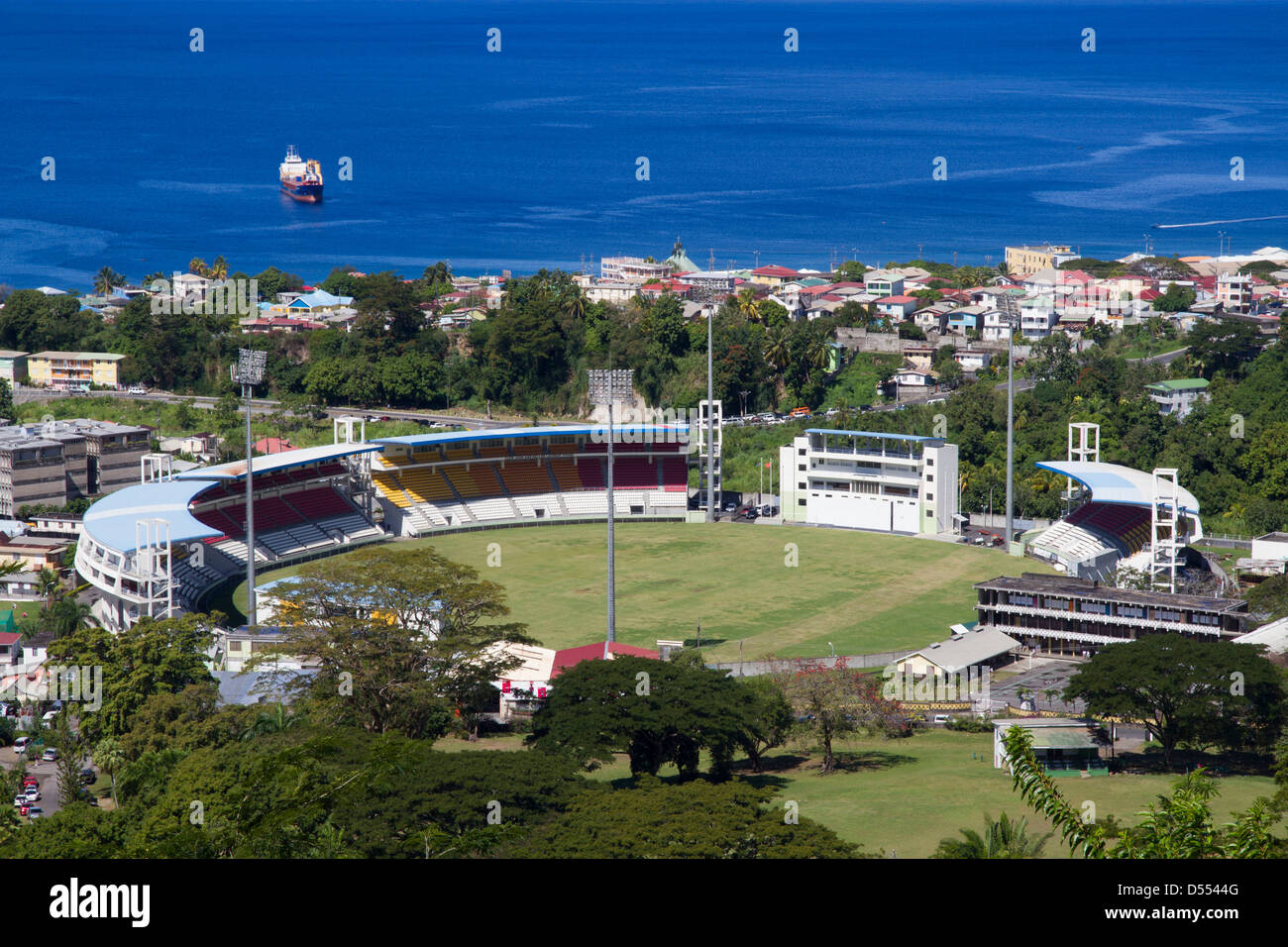 Dominica Roseau Windsor park sports stadium - Stock Image