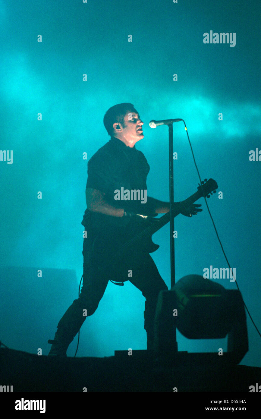 Trent Reznor Stock Photos Images Alamy Sweater Nine Inch Nails Nin Of In Concert At The Annual Sziget Festival