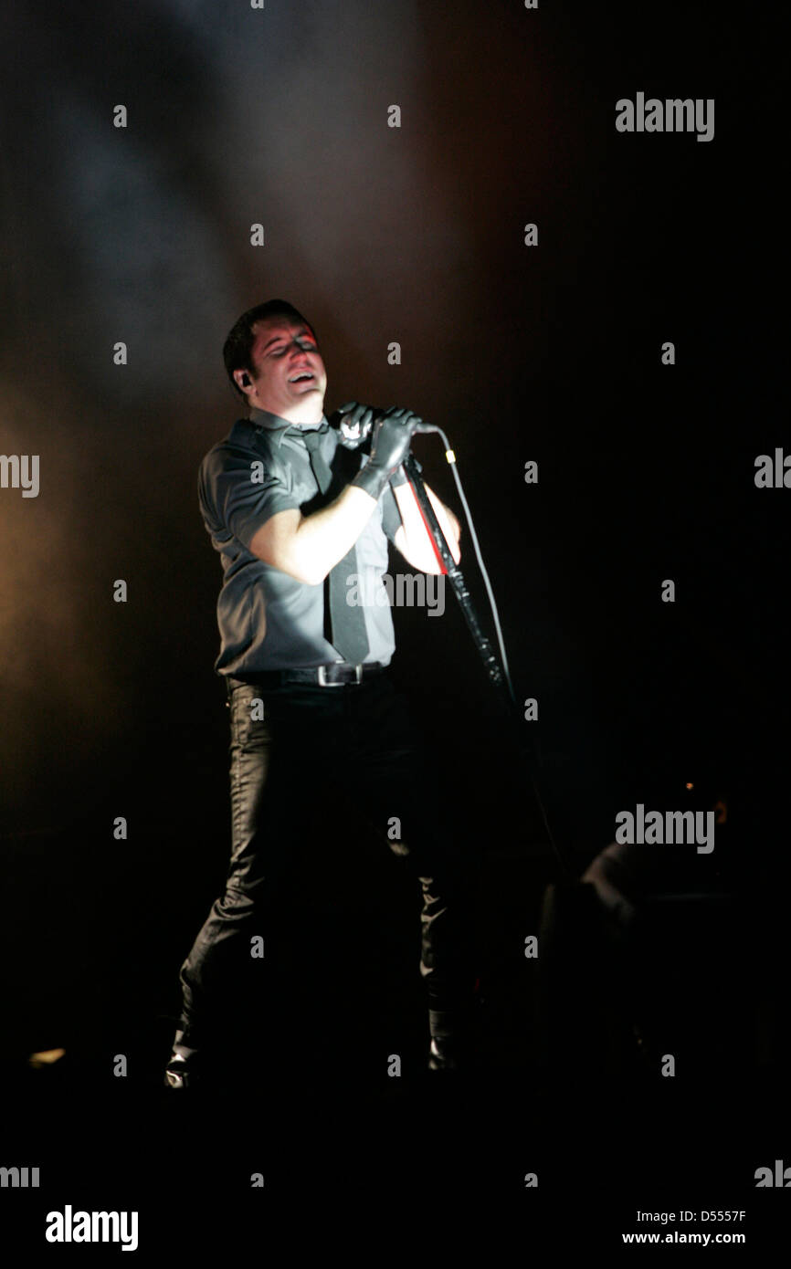 Trent Reznor of Nine Inch Nails (NIN) in concert at the annual ...