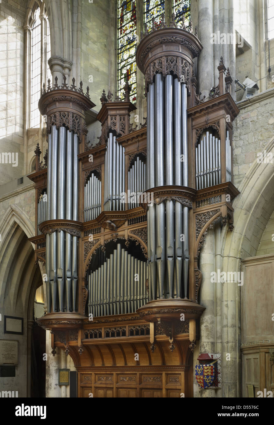Southwark Cathedral organ - Stock Image