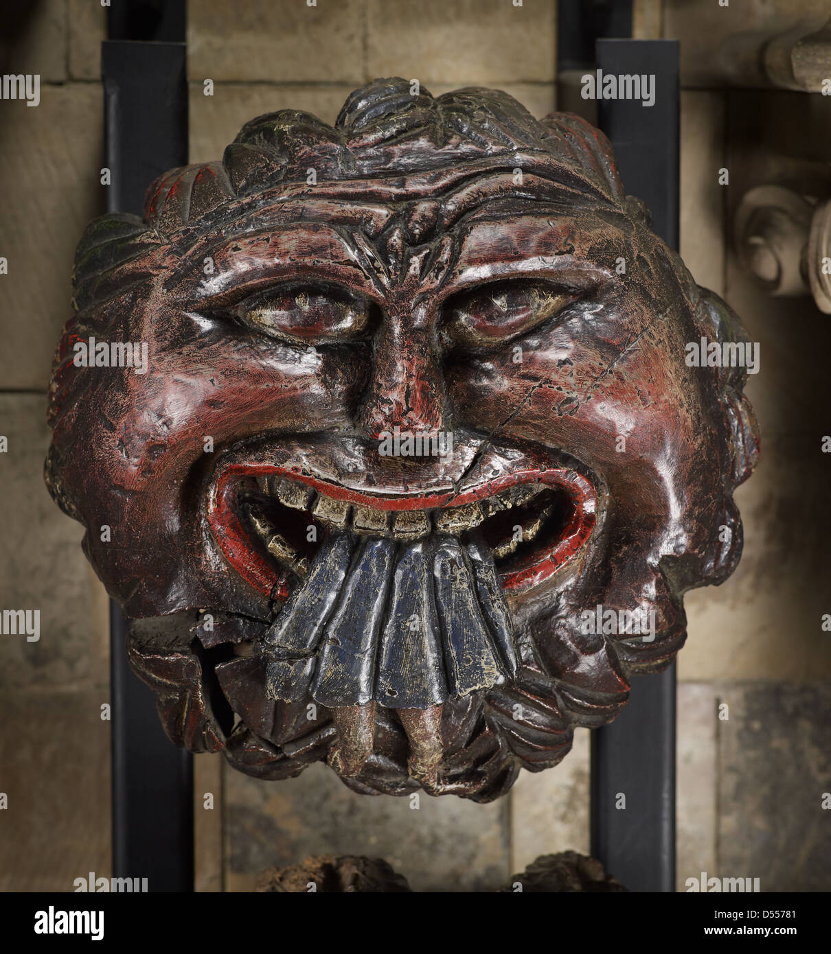 Southwark Cathedral roof boss - Stock Image