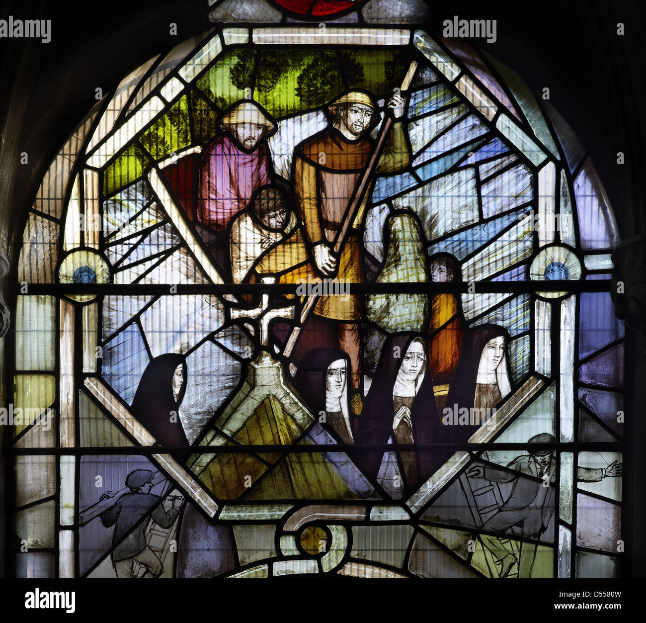 Southwark Cathedral Rider window by Lawrence Lee - Stock Image