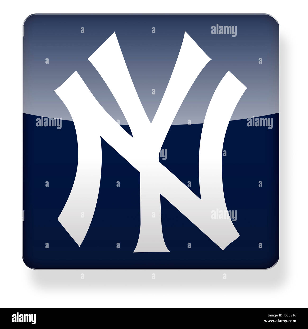 New York Yankees Baseball Cap Logo As An App Icon Clipping Path Included