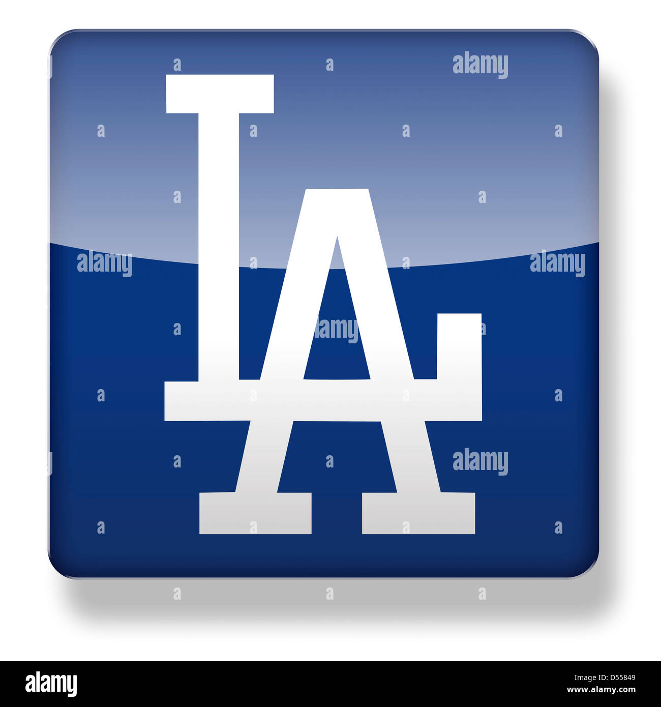 Los Angeles Dodgers Baseball Cap Logo As An App Icon Clipping Path