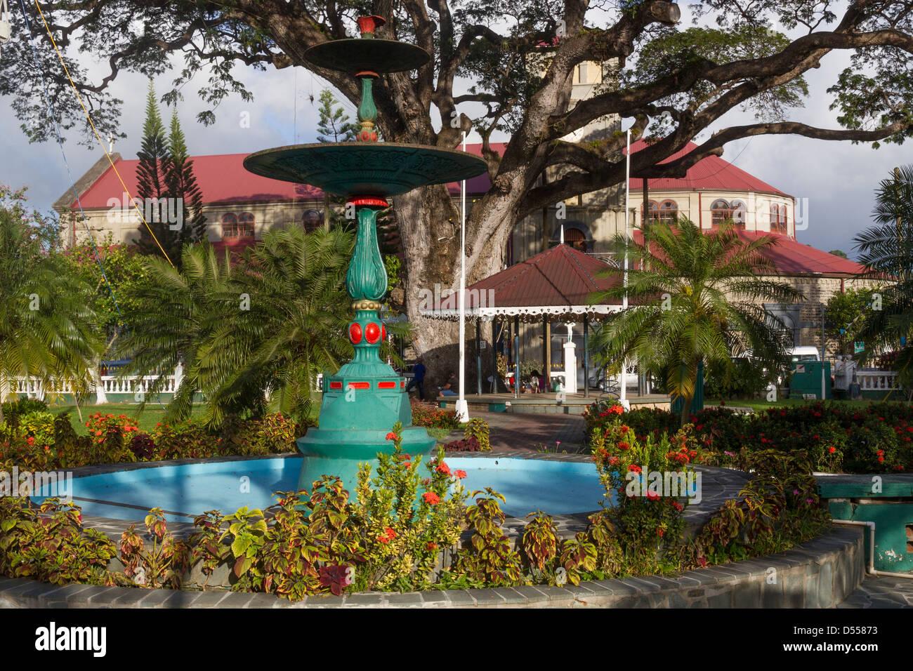 St.Lucia Castries, Derek Walcott square - Stock Image