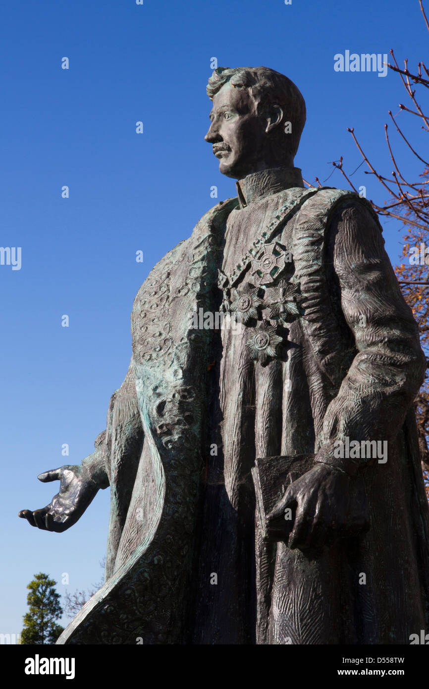Portugal Madeira Funchal, Monte, statue of Charles Habsburg, last emperor of Austro-Hungary - Stock Image