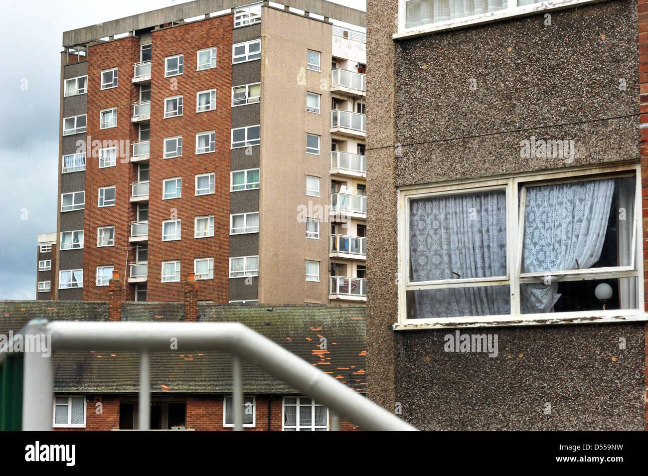 Mixture of Social Housing in Leeds UK - Stock Image