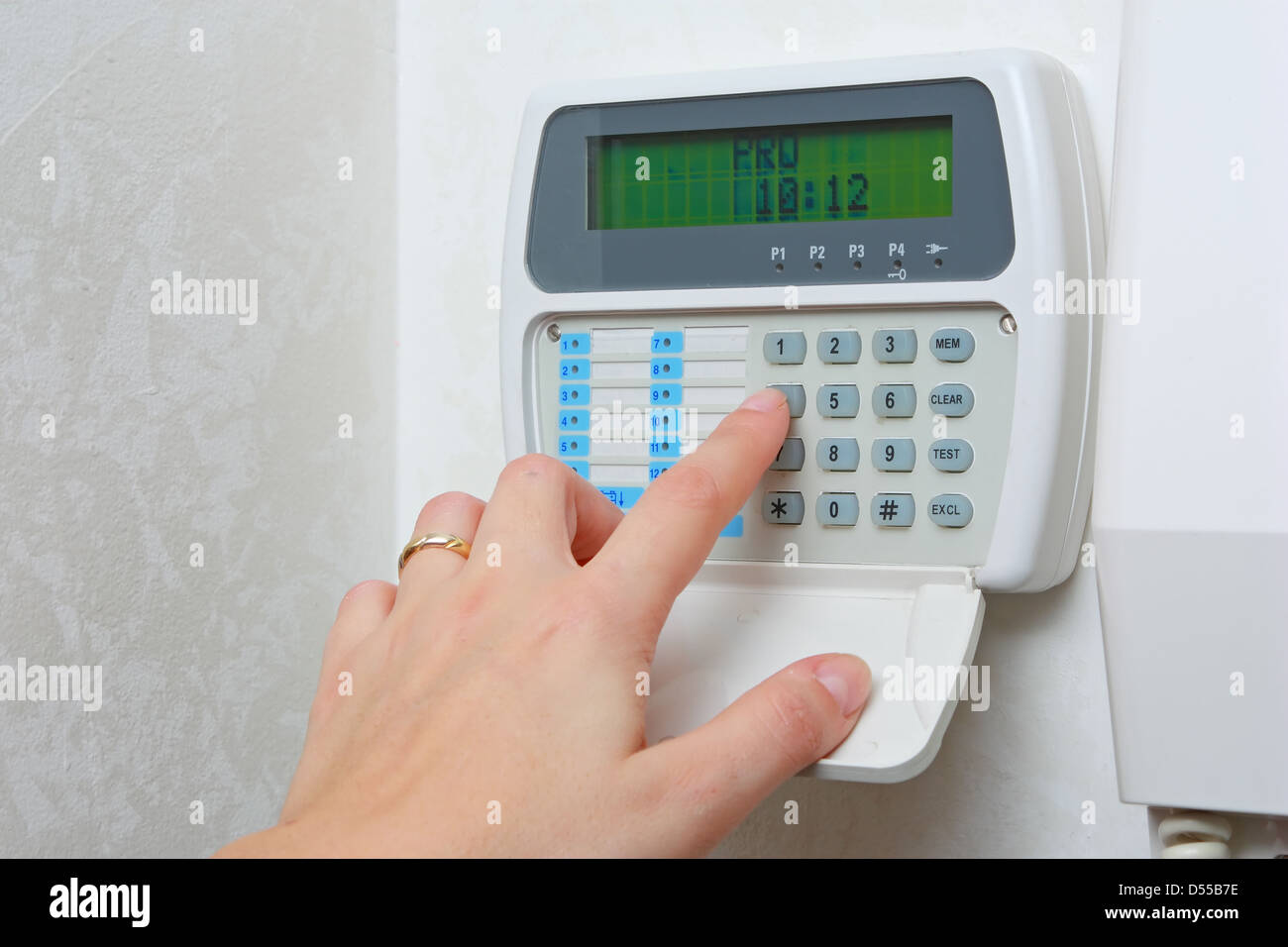 Domestic alarm system - Stock Image