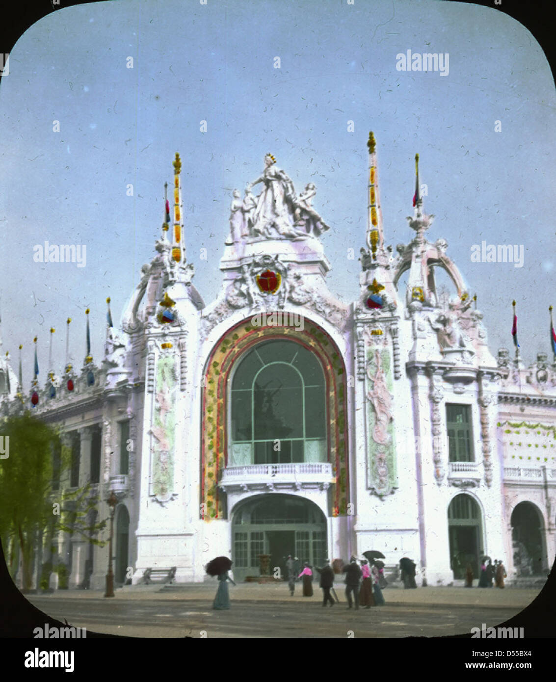 Paris Exposition: Palace of Decorative Arts, Paris, France, 1900 - Stock Image