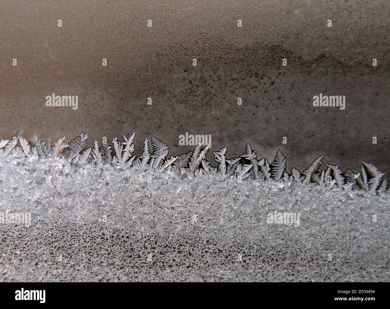 Berlin, Germany, frost patterns on a window pane - Stock Image