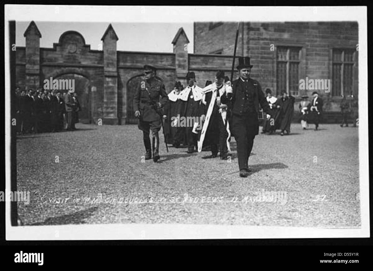 Visit of F.M. Sir Douglas to St. Andrews 19 May 1919 - Stock Image