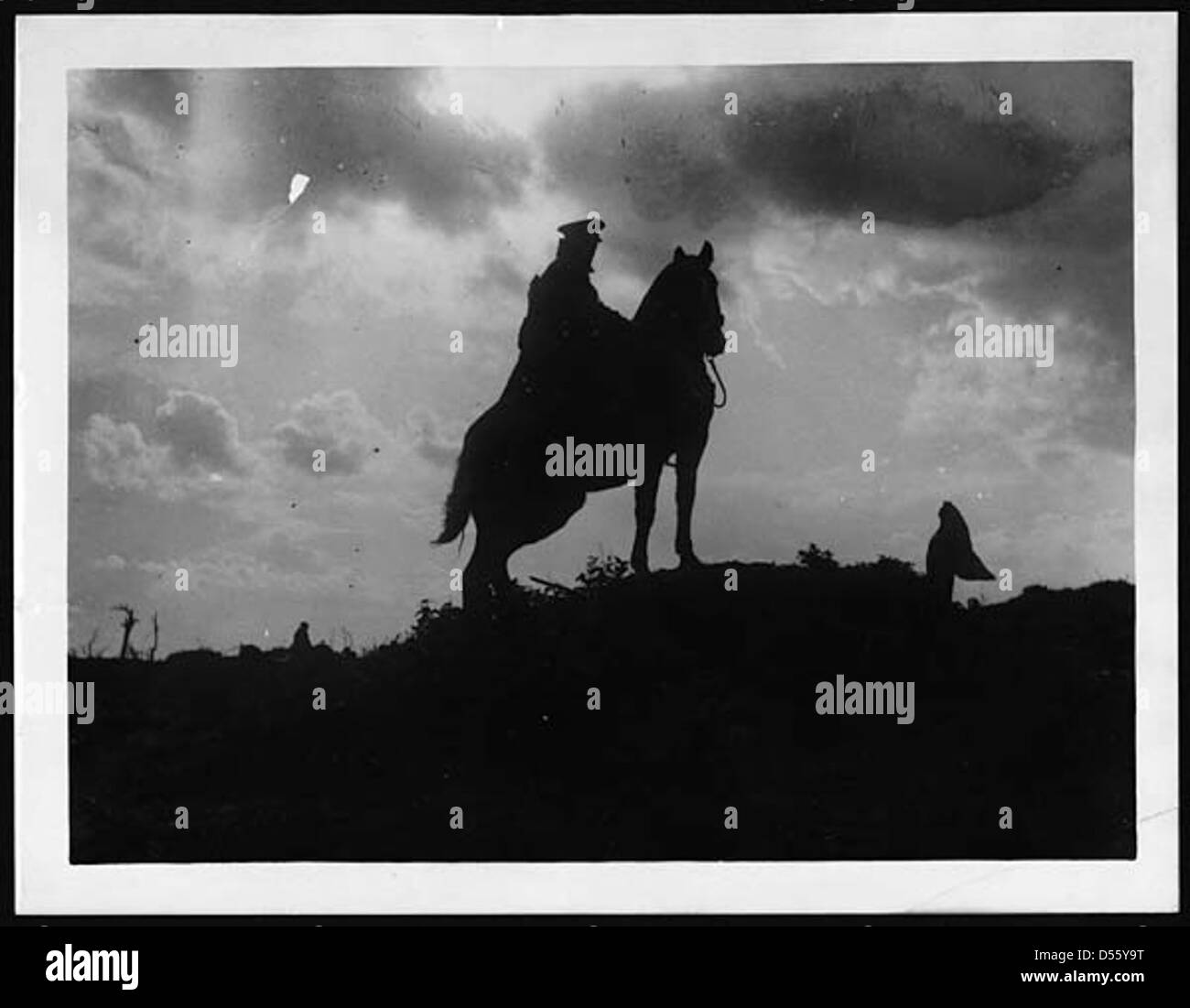 Cavalry patrol - Stock Image