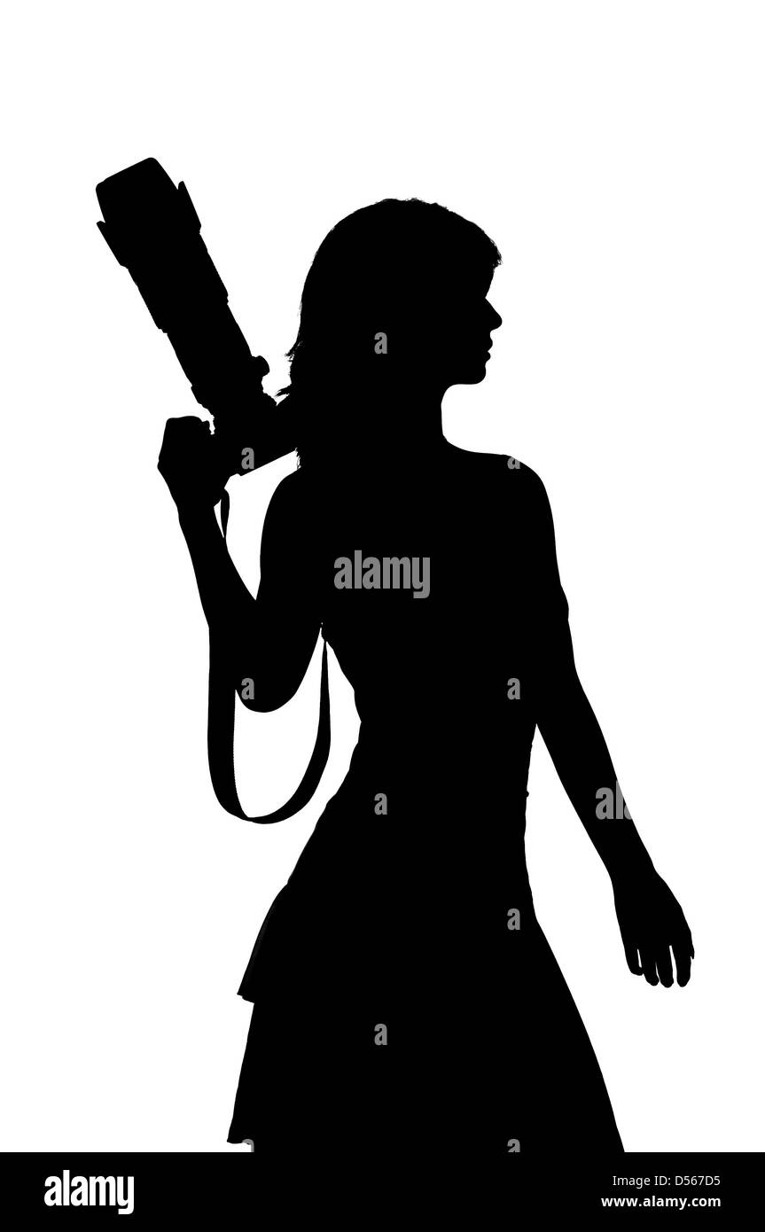 Woman With Camera Silhouette Stock Photo Alamy Download 16,000+ royalty free camera silhouette vector images. https www alamy com stock photo woman with camera silhouette 54841953 html