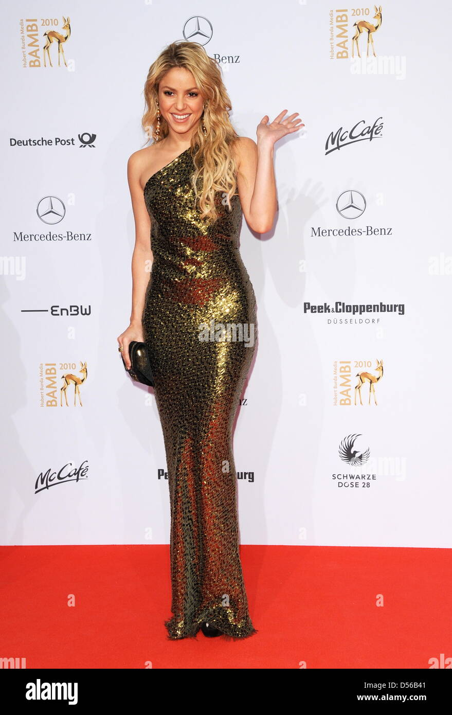 Colombian singer Shakira arrives for the Bambi award in Potsdam ...
