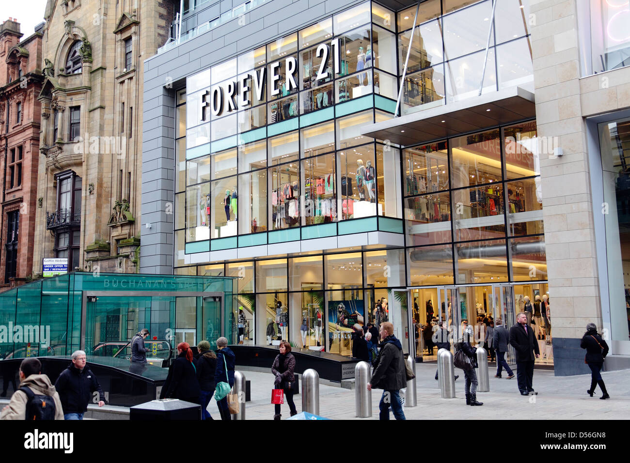 A  Forever 21 shop, now closed, on Buchanan Street in Glasgow city centre, Scotland, UK - Stock Image