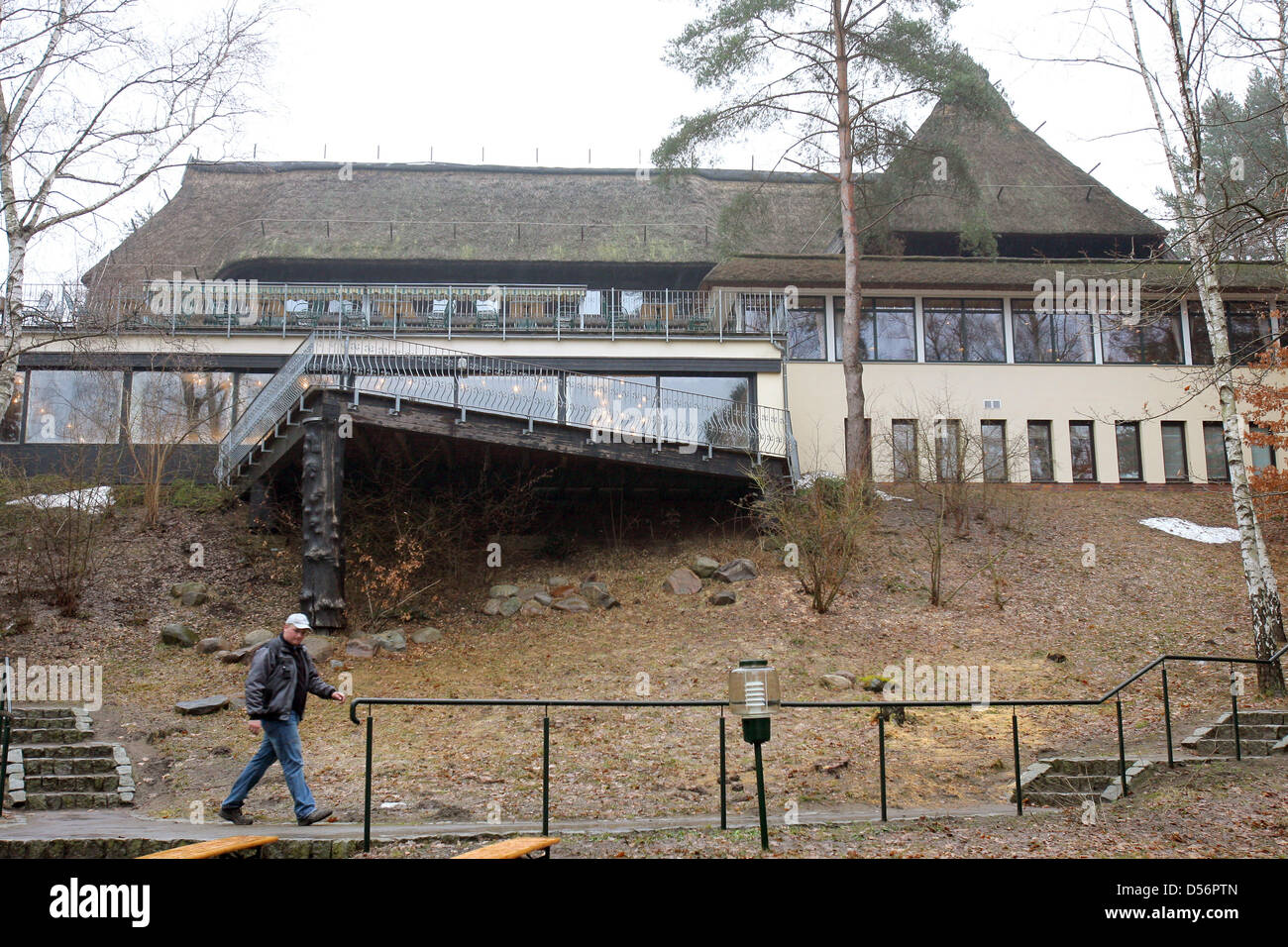 Travellers visit the former hunting residence of of former GRD leader Erich Honecker in Drewitz, Germany, 20 March - Stock Image