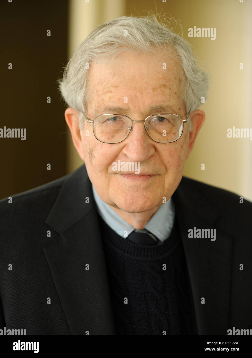 US linguist and philisopher Noam Chomsky pictured at a press conference in Stuttgart, Germany, 23 March 2010. International - Stock Image
