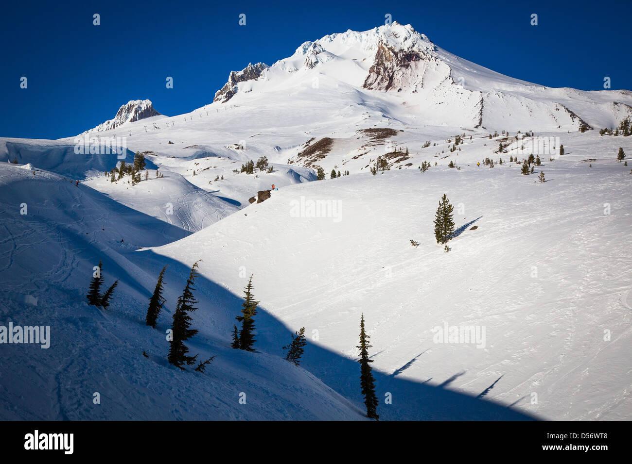 Mount Hood, Oregon, in winter - Stock Image