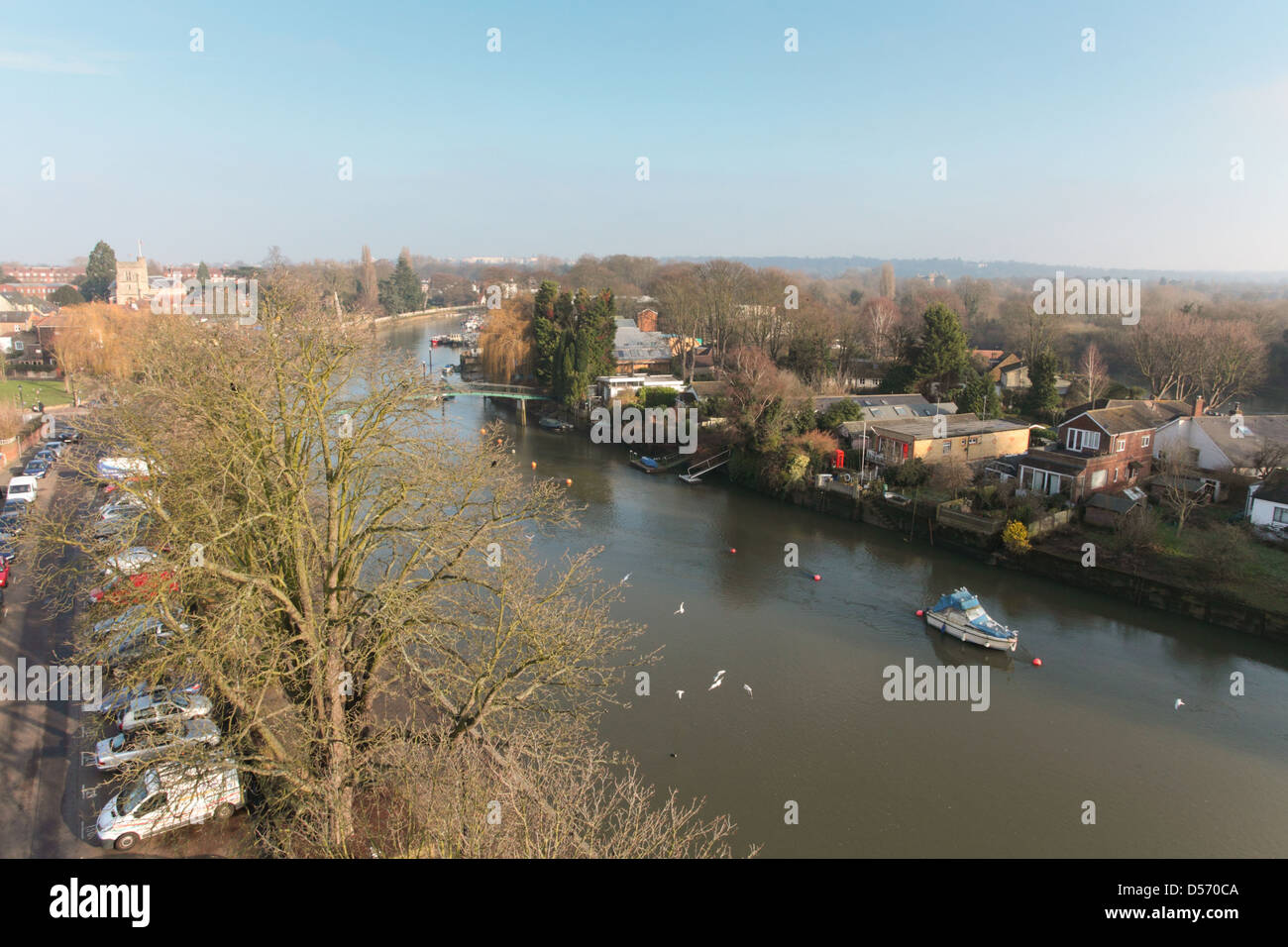 View of the River Thames at Twickenham Stock Photo
