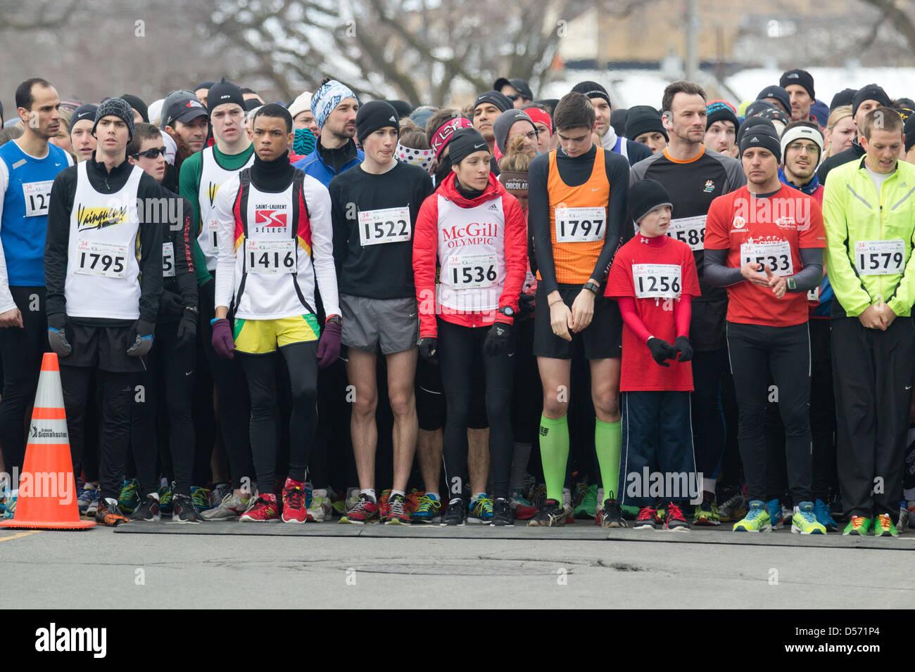 Running race start line Stock Photo