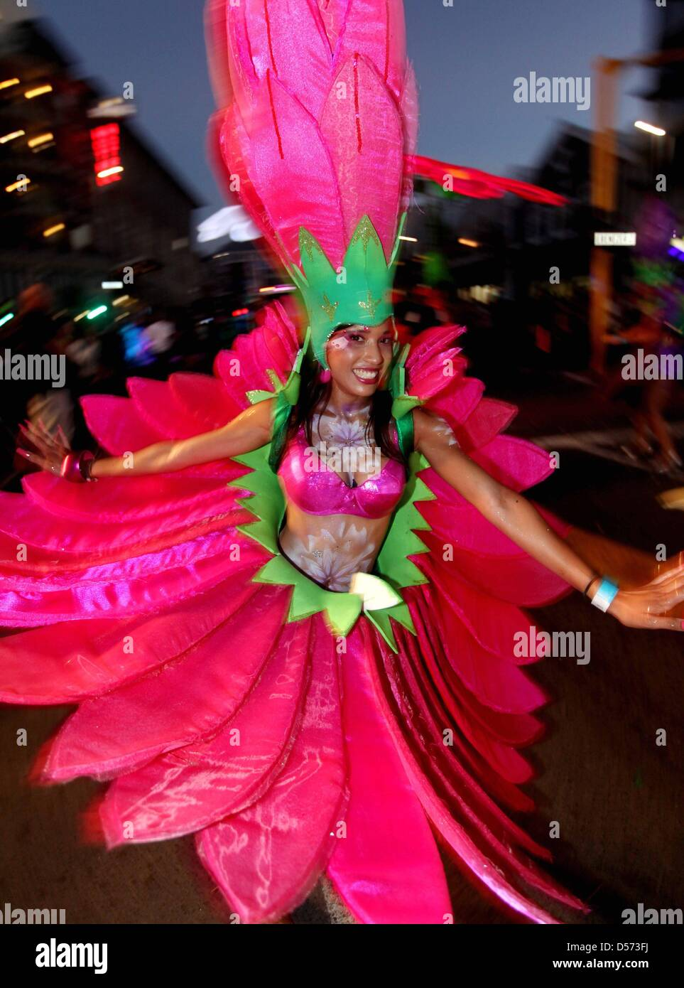 Pink Flower Costume Cape Carnival Stock Photos Pink Flower Costume