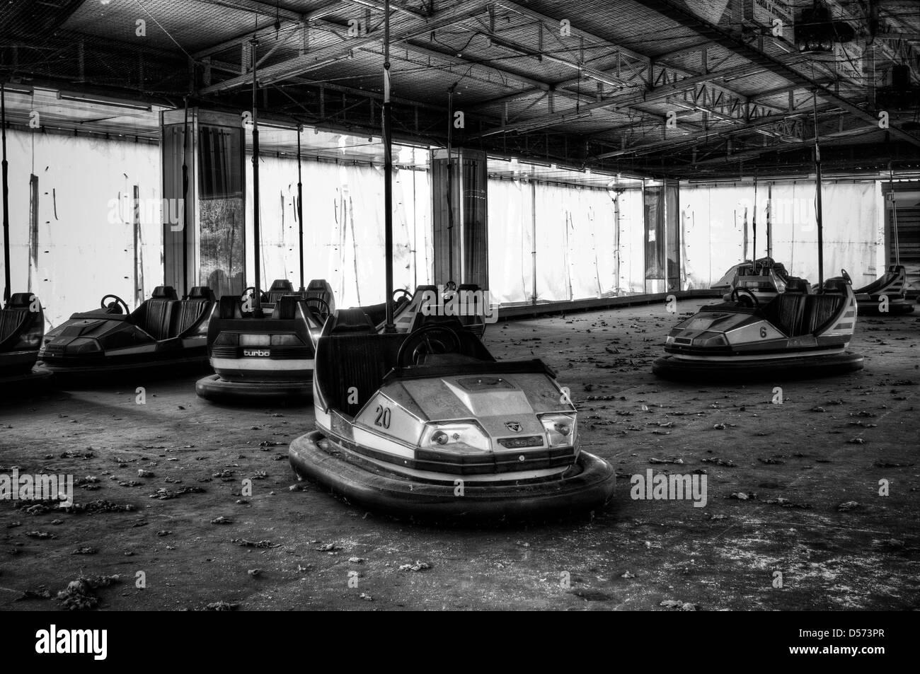 Abandoned fun fair. Bumpers - Stock Image