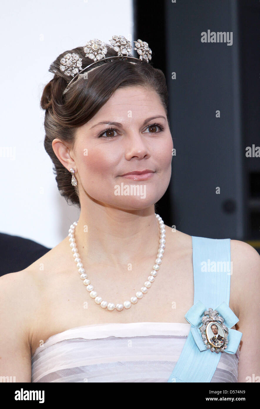 Swedish Crown Braid Tutorial: Swedish Crown Princess Victoria Attends Stock Photos