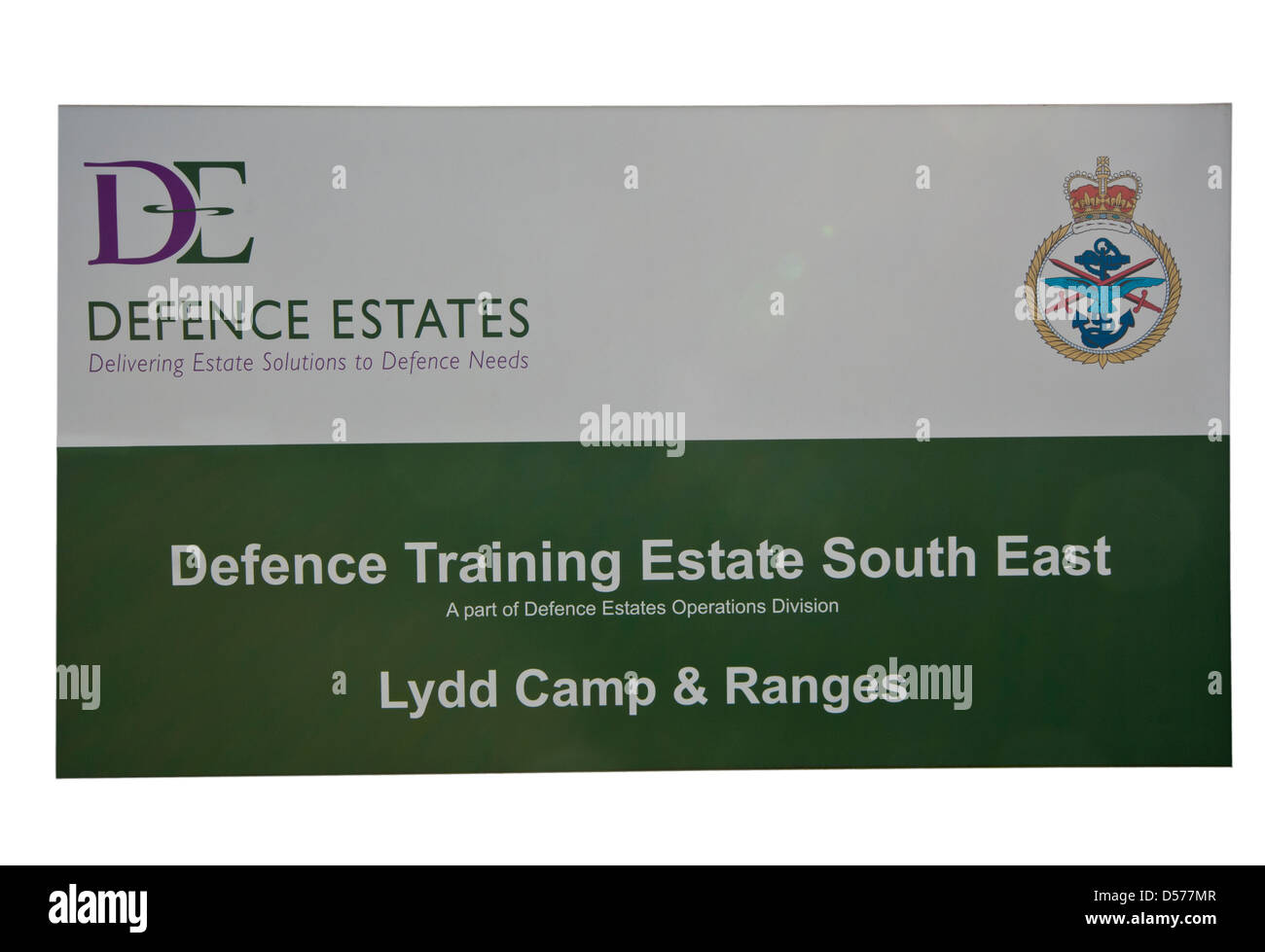Lydd British Army Camp And Firing Ranges Sign Kent England - Stock Image