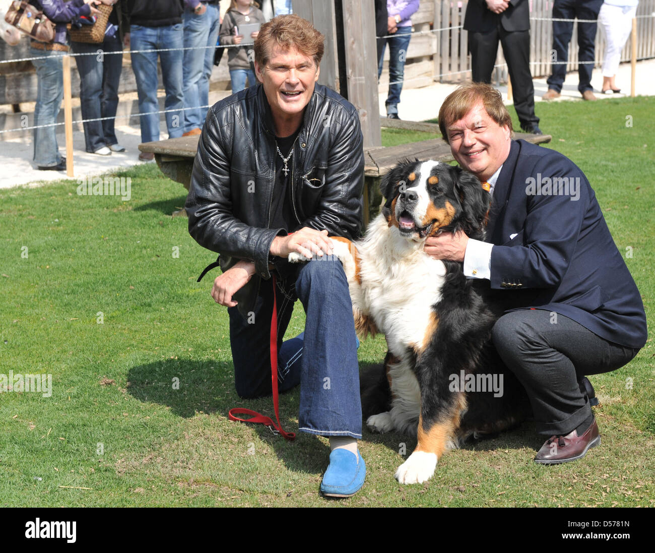 Us Actor And Singer David Hasselhoff L And Michael Aufhaus
