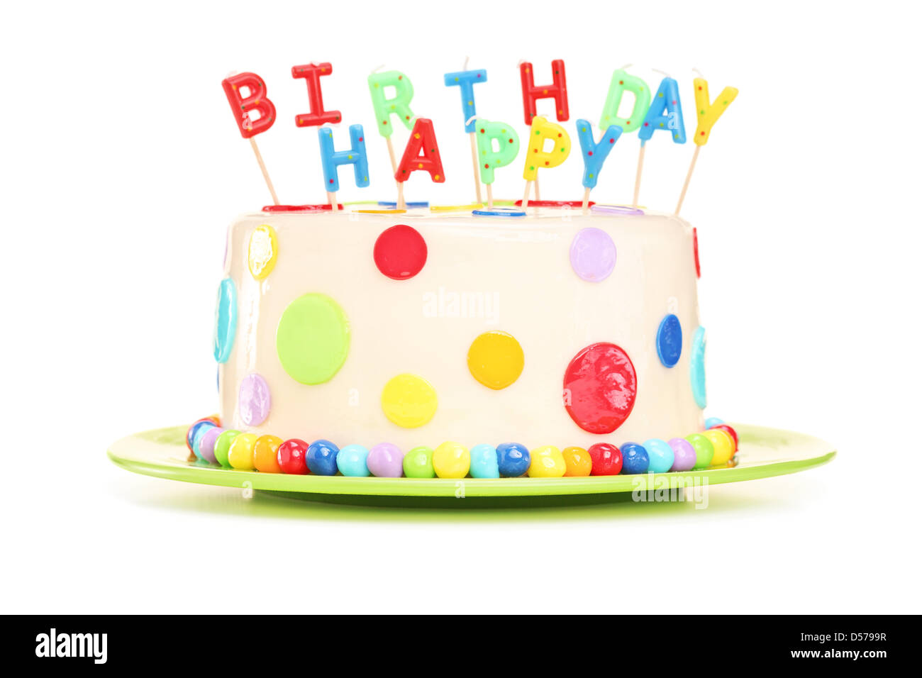birthday cake with candles cut out stock images amp pictures