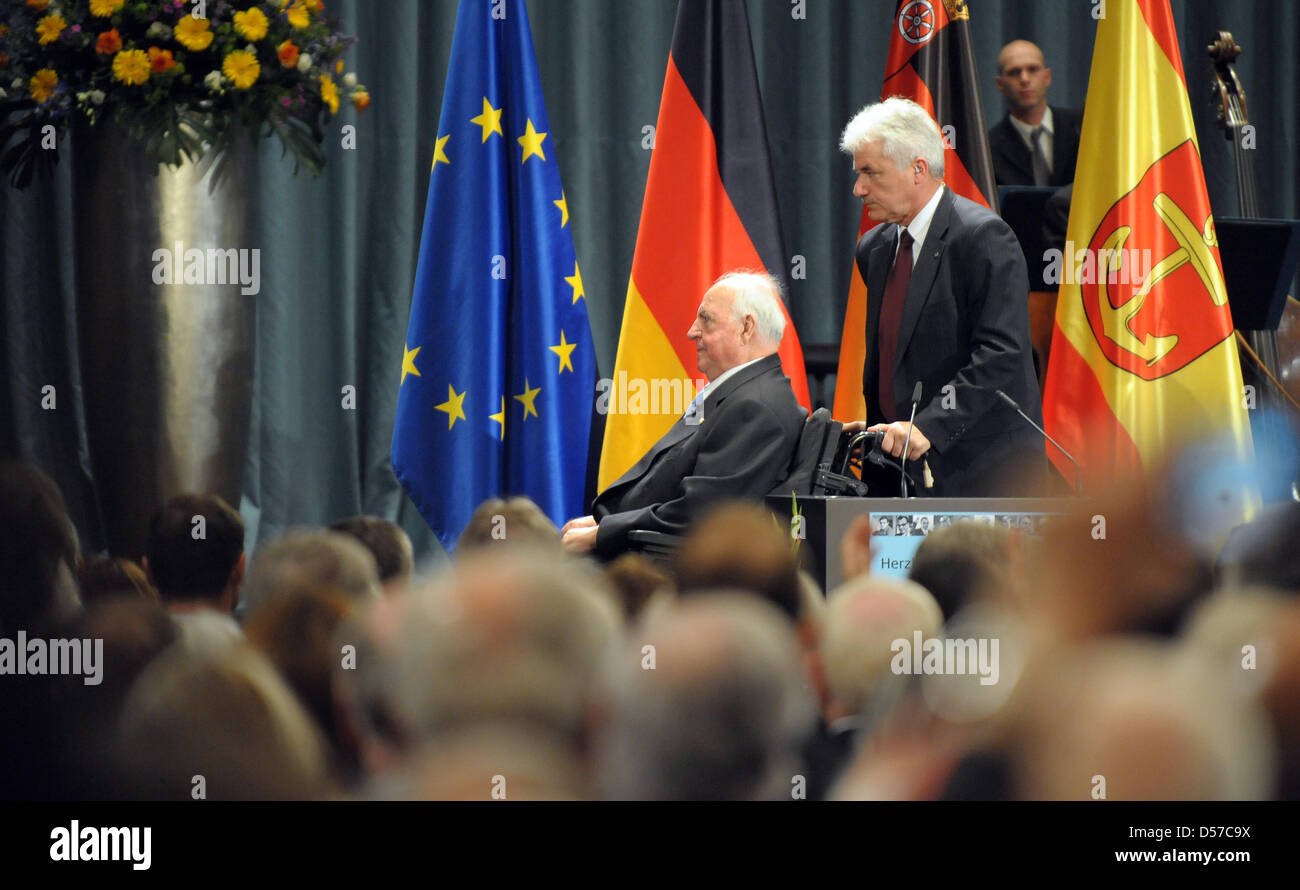 Former long-time chancellor Helmut Kohl is to deliver a speech at the celebrations of Kohl's 80th birthday in - Stock Image