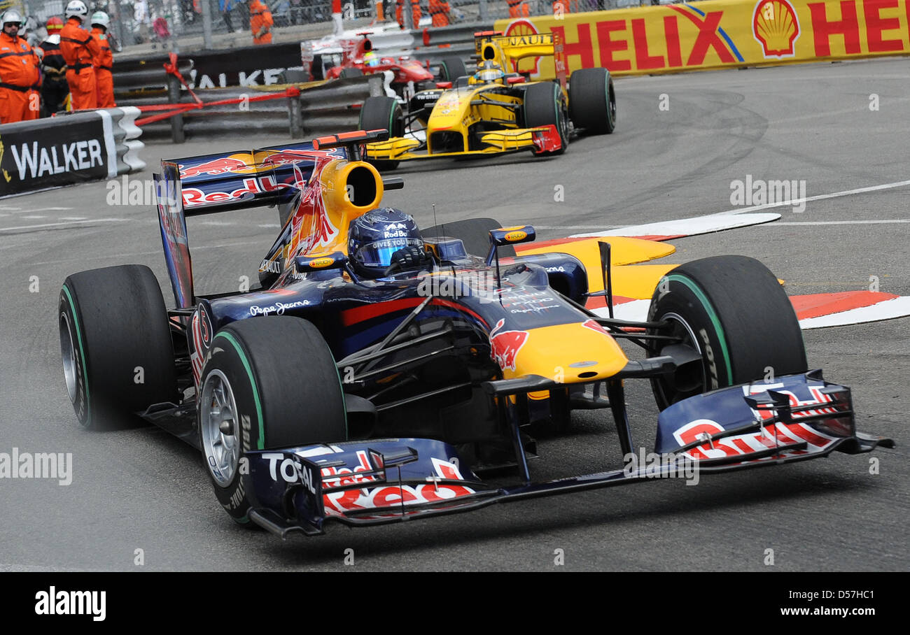 eedab8f3 German driver Sebastian Vettel of Red Bull Racing (front) leads Polish  driver Robert Kubica of Renault F1 through a chicane during the 2010  Formula 1 Grand ...
