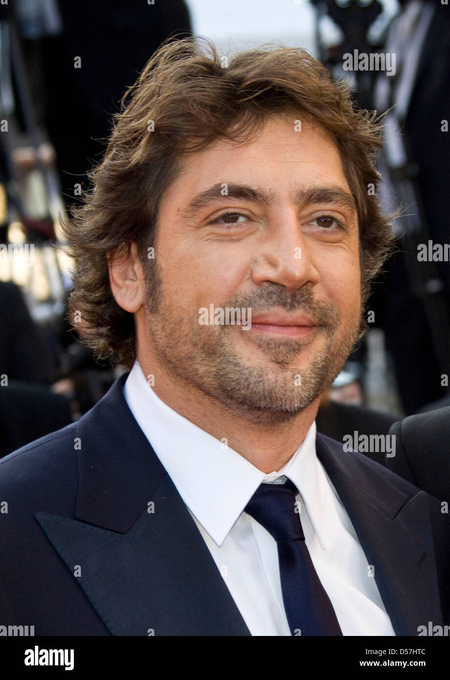 "Spanish actor Javier Bardem arrives for the screening of the movie ""Biutiful"" at the 63rd Cannes Film Festival in Stock Photo"
