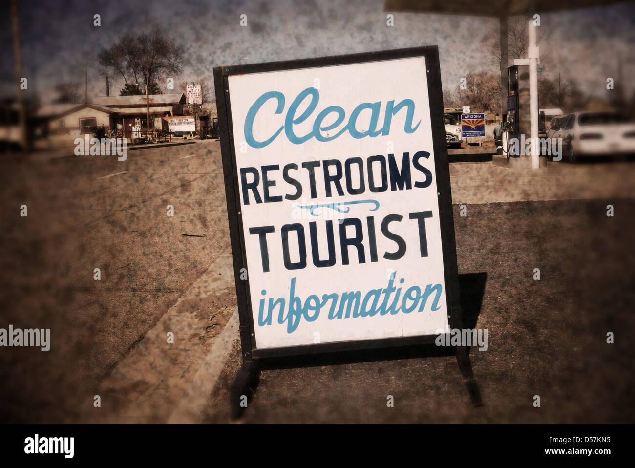 Clean restrooms & tourist info. - Stock Image