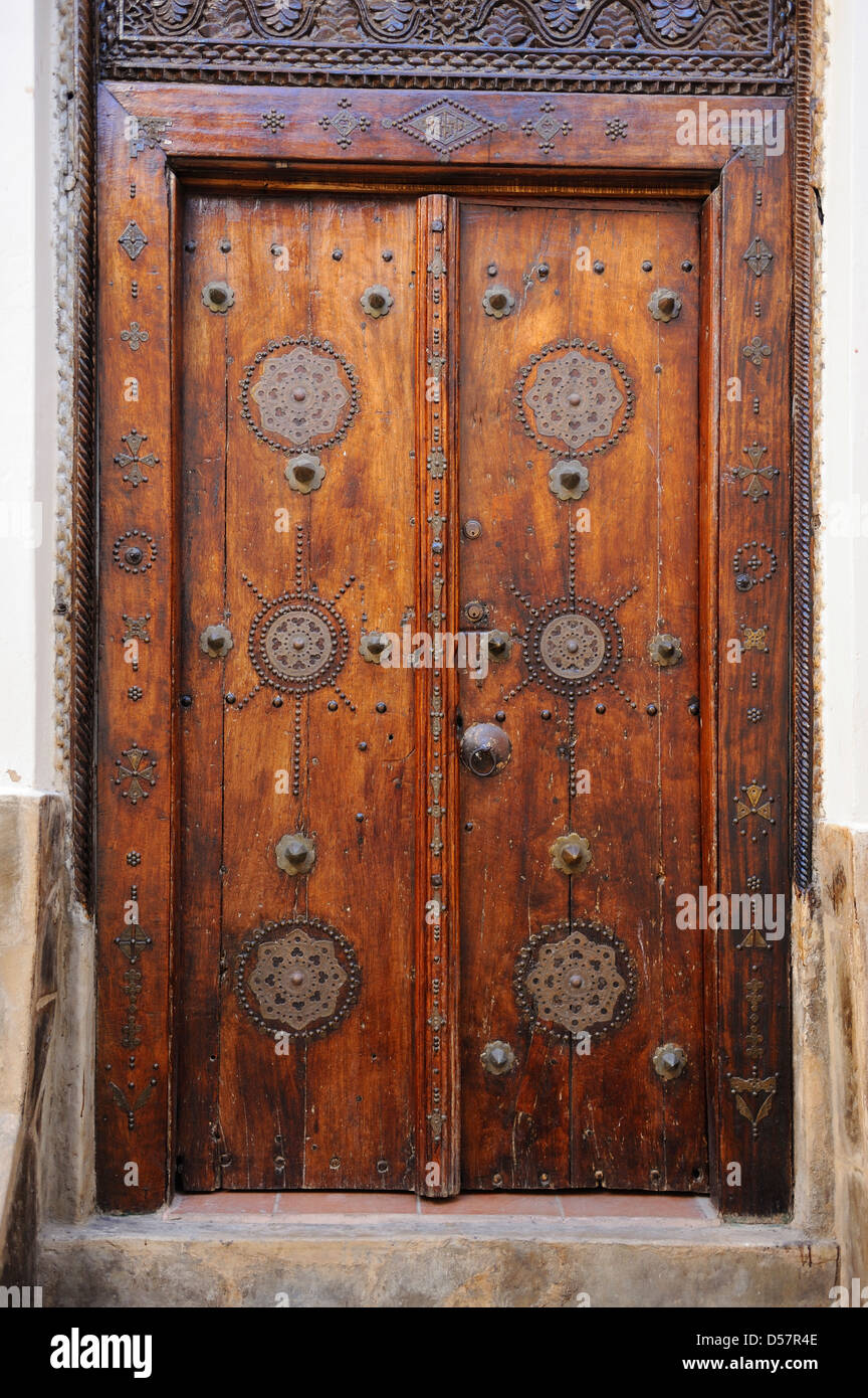 Traditional door in old town stock photos