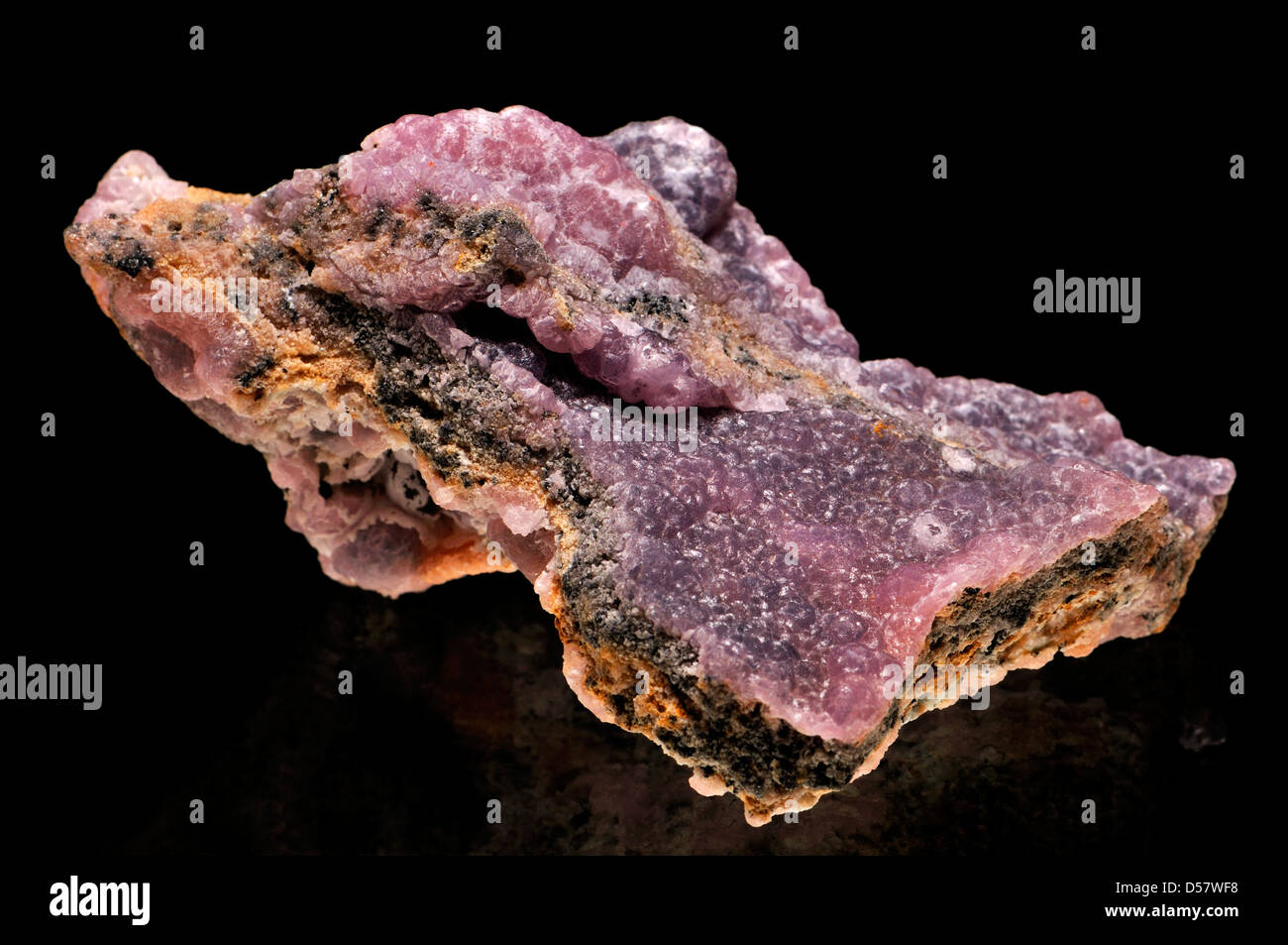 Pink Smithsonite [zinc carbonate] from Mexico - Stock Image