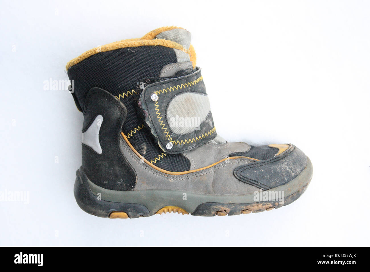 used winter boots - Stock Image