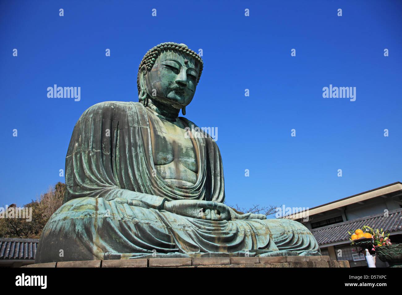 Japan, Kanagawa Prefecture, the Great Buddha of Kamakura - Stock Image