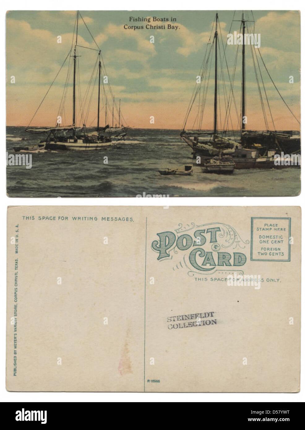 Fishing Boats in Corpus Christi Bay. - Stock Image