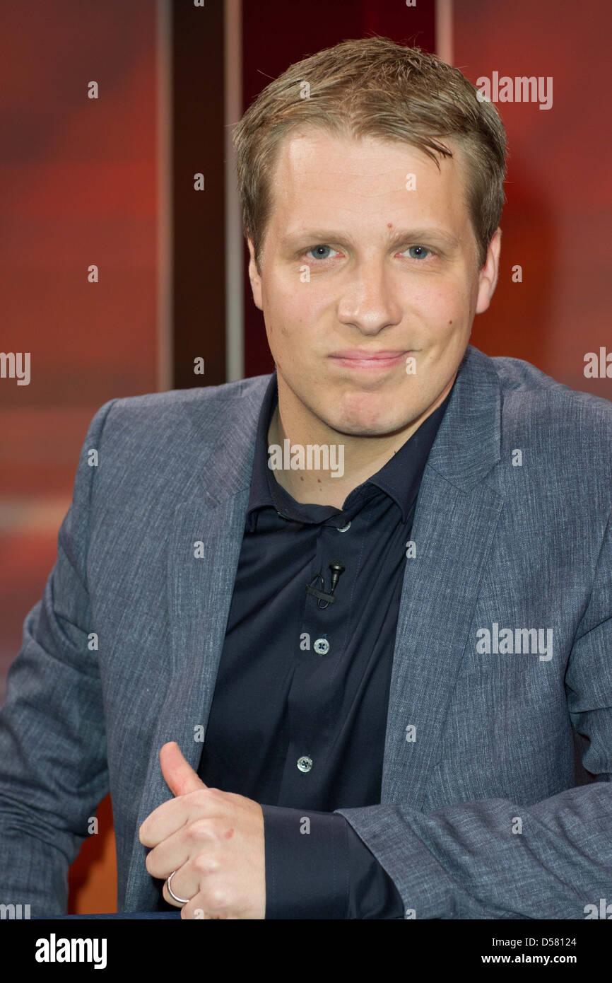 "Oliver Pocher at german WDR TV talkshow ""Hart aber fair"" Cologne, Germany - 28.11.2011in - Stock Image"
