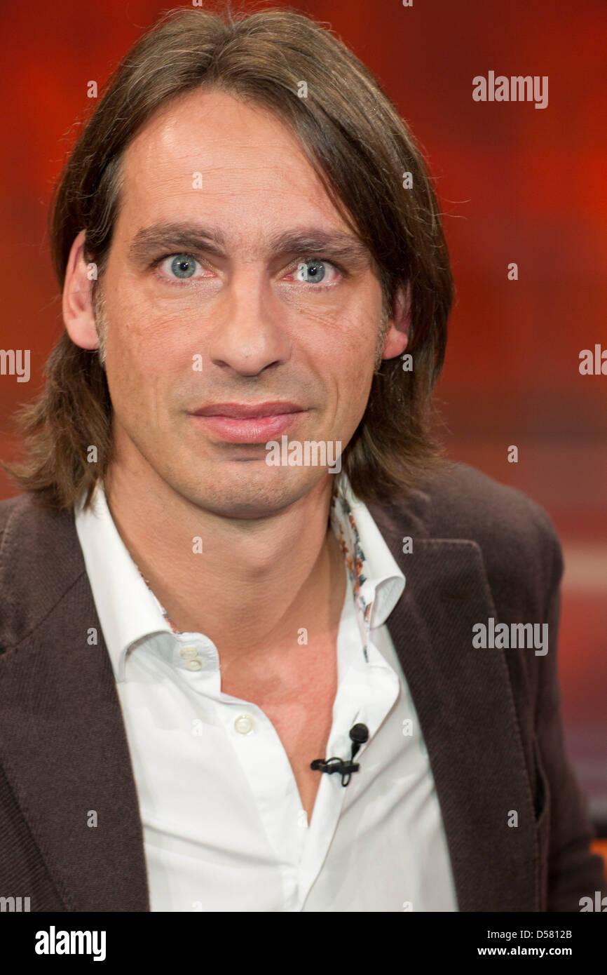 "Richard David Precht at german WDR TV talkshow ""Hart aber fair"". Cologne, Germany - 28.11.2011 - Stock Image"