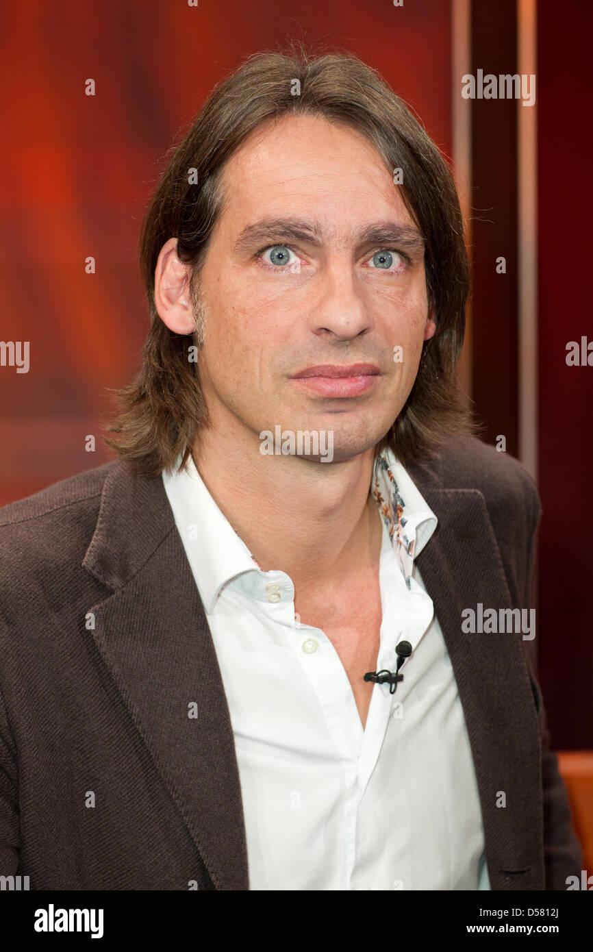 "Richard David Precht at german WDR TV talkshow ""Hart aber fair"" Cologne, Germany - 28.11.2011 - Stock Image"